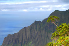 Cliffs on the Na Pali coast Royalty Free Stock Photo