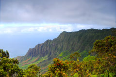 Cliffs on the Na Pali coast  Stock Photos