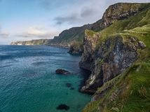 Cliffs near Ballintoy, Northern Ireland. Steep cliffs near Ballintoy, Antrim, Northern Ireland stock photography