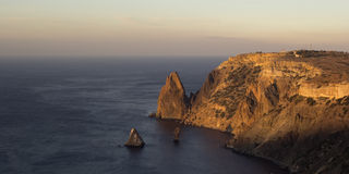 Cliffs near Cape Fiolent, Crimea Stock Photo