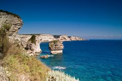 Cliffs near the city Bonifacio Stock Images