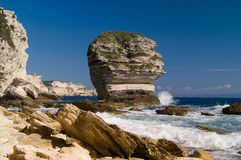 Cliffs near the city Bonifacio Royalty Free Stock Photo