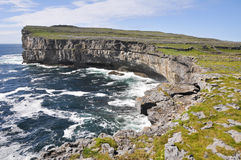 Cliffs near Dun Aengus, Inishmore (Ireland) Stock Image