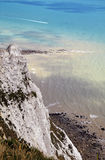 Cliffs near Eastbourne. With seaview Stock Photos
