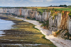 Cliffs near Etretat and Fecamp Stock Photos