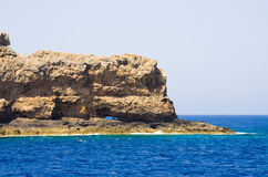 Cliffs near famous Balos beach, Crete, Greece Royalty Free Stock Photography