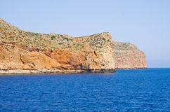 Cliffs near famous Balos beach, Crete, Greece Royalty Free Stock Images
