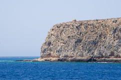 Cliffs near famous Balos beach, Crete, Greece Royalty Free Stock Image