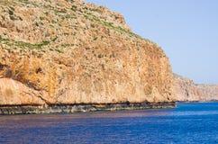 Cliffs near famous Balos beach, Crete, Greece Stock Photography