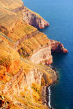 Cliffs near Fira, Santorini Royalty Free Stock Images