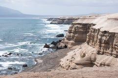 Cliffs near La Portada Natural Monument, Chile. Cliffs near  La Portada Natural Monument at Antofagasta, Chile Royalty Free Stock Photo