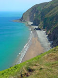 Cliffs near lynton, coastal landscape devon, southwest england Stock Image