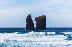 Cliffs near Mosteiros on the Azores Stock Photos