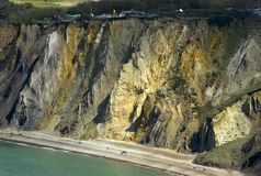 Cliffs near the Needles Wight Royalty Free Stock Image