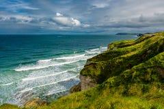 Cliffs near Portrush in Northern Ireland Stock Photography