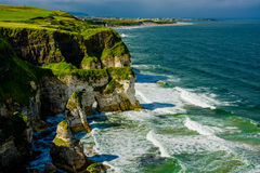 Cliffs near Portrush in Northern Ireland Royalty Free Stock Photos