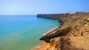 Cliffs near Sagres Royalty Free Stock Photo