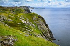 Cliffs near the Slieve League, County Donegal, Ireland. Sliabh Liag, sometimes Slieve League or Slieve Liag, is a mountain on the Atlantic coast of County Stock Images