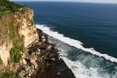 Cliffs near Uluwatu Temple on Bali, Indonesia Stock Photos