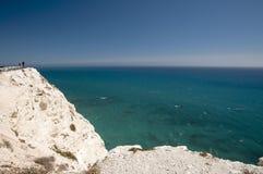 Cliffs near Venus Bay Cyprus Royalty Free Stock Image