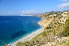 Cliffs of Nerja Stock Images