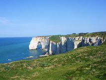 Cliffs in normandy Stock Photo