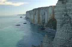 Cliffs in the Normandy. France, near Etretat Stock Image