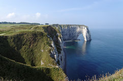 cliffs of  normandy coast Royalty Free Stock Photo