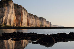 Cliffs of Normandy Royalty Free Stock Photography