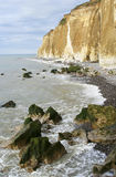 Cliffs in Normandy Stock Photos