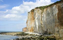 Cliffs in Normandy Stock Image