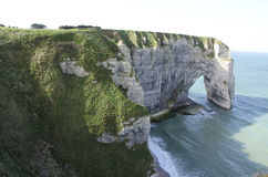 Cliffs in Normandy Royalty Free Stock Photo