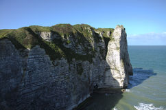 Cliffs in Normandy Royalty Free Stock Photography
