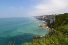 Cliffs in the Normandy Stock Photography
