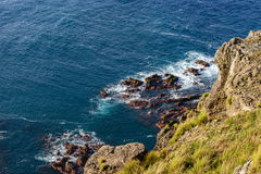 Cliffs in north of Flores, Azores archipelago (Portugal) Royalty Free Stock Photography
