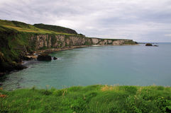 Cliffs in northern ireland stock photography