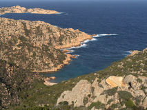 Cliffs of northern Sardinia. Beautiful coast of the island of Caprera his name and cala Coticcio Stock Images