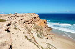 Cliffs and ocean. Nearby town, South Australia Royalty Free Stock Image