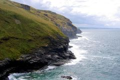 Cliffs on ocean coastline Stock Image