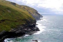 Cliffs on ocean coastline Stock Image