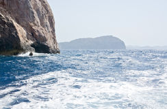 Cliffs and ocean landscape Royalty Free Stock Image