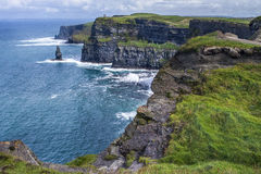 Cliffs and ocean. Cliffs of Moher, Ireland Stock Photography