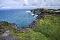 Cliffs and ocean. Cliffs of Moher, Ireland Royalty Free Stock Photo