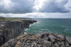 Cliffs and ocean. Cliffs of Moher, Ireland Stock Images