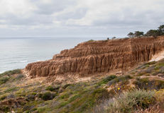 Cliffs off Torrey Pines state park Stock Photos