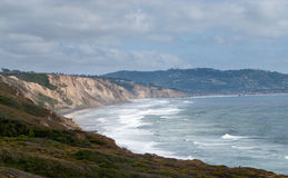Cliffs off Torrey Pines state park Royalty Free Stock Photography
