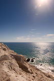 Cliffs overlooking Sea of Cortez Stock Images
