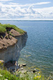 The cliffs of Paldiski and Baltic sea. Estonia Stock Images
