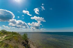 The cliffs of Paldiski, Estonia. The Baltic sea Royalty Free Stock Images