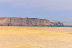 Cliffs in the Paracas National Reserve, Peru Royalty Free Stock Images